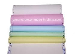 Du papier autocopiant (CB/BFC/FC) avec l'image bleu/noir