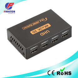 مقسم HDMI بدقة 4K 2.0 UHD رباعي الاتجاه بمعدل 1X4