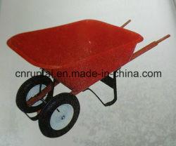 Handtruck/wielkast voor zwaar gebruik met rode bak