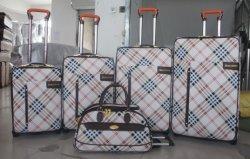 Cuir synthétique chariot à bagages en aluminium système sac006