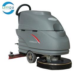 Ospedale/fabbrica/magazzino/Supermarket automatico Passeggiate buon prezzo pavimenti pulizia lavatrice Scrubber Machine In vendita