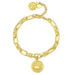 9K Gold Zodiac O/D Fashion bracelete de Link