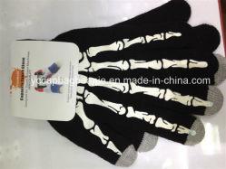 Guanti acrilici su ordinazione lavorati a maglia Texting astuti dello schermo di tocco di modo