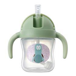 La cuvette de bébé Flexi-Straw pondérée de la formation pour les bambins Couvercle Flip-Top ESG13432
