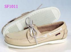 Haut de la qualité Doublure en cuir véritable bateau Chaussures pour femmes