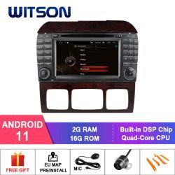 مشغل وسائط متعددة للسيارة Witson رباعي النواة Android 11 لسيارات Mercedes-Benz S قرص DVD للسيارة من الفئة