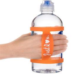 シリコーンの水差しのバンドによって捺印されるロゴのシリコーンの飲料のびんバンド