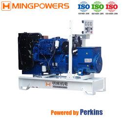 100 kVA 80kw de cuatro tiempos de tipo abierto grupo electrógeno diesel con motor Perkins