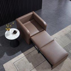 نسيج حديث مفرد Futon متين وعملي أو جلد PU سرير أريكة