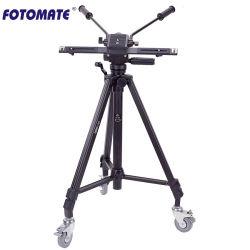 Treppiede per fotocamera professionale VT-7005D in lega di alluminio con funzionamento a 2 maniglie