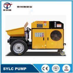 Mini Draagbare Diesel Stationaire aanhangwagen-Opgezette Concrete Mixer die de Pomp van de Levering vervoeren