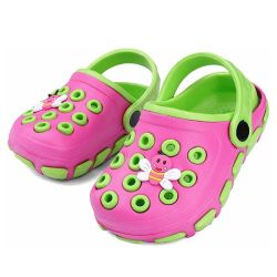 Comforteble の方法子供 Eva の丸太の多彩な漫画の庭の靴