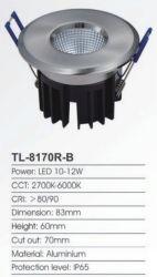 تجويف LED دائري بقوة 35 واط/50 واط/3 واط/5 واط/6 واط مع 12 فولت من الألومنيوم المصبوب على المنحدرات في مصباح COB ضوء خافت