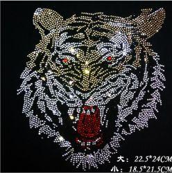 タイガークリスタルラインストーン / ホットフィックスラインストーン / ファッションウェアラインストーンモチーフ