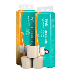 Una muestra gratis barata de Papel Higiénico personalizado de pasta de bambú Rollo de papel tejido King Size