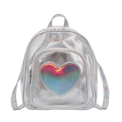 Laser de moda Líquido transparente mochila de gelatina versão coreana do velho transparente mochila do aluno
