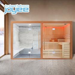 Joyee Piscina Resort Villa Madeira Cabana de Madeira com chuveiro de vapor Sauna seca sauna combinaçoes Wet Chuveiro de vapor Sauna seca para o comércio por grosso