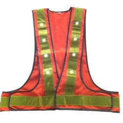 Usine d'alimentation LED réflectif Uniform Traffic Safety vest Vêtements de travail