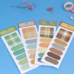 핫 셀링 자체 접착식 및 맞춤형 메모 패드 스티커 메모 색인 탭 책 페이지 표식을 위한 플래그