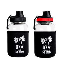 كوب شعار مخصص خالٍ من مادة BPA بسعة 1 لتر 1000 مل وسعة كبيرة اشرب زجاجة مياه