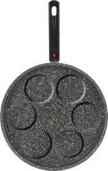 7円の形の熱い販売の取り外し可能な調理器具によって押されるアルミニウム卵のグリル鍋のピクニックフライパン