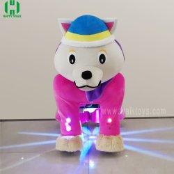 Cachorro de color rosa eléctrico interior Paseo de los animales los coches de juguete para niños