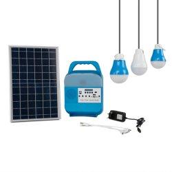 الطاقة الشمسية نظام صغير ضوء متعدد الوظائف مع راديو Bluetooth المتحدث مصباح الإضاءة الخارجية اليدوي لمخيّم ضوء الطوارئ