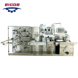 Tecido molhado Acondicionamento Manual da Máquina Toalhetes Máquinas de fazer