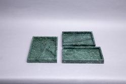 Mooie rechthoek Groen Marmeren lade Juwelen lade marmer Home ambachten Voor keuken en badkamer