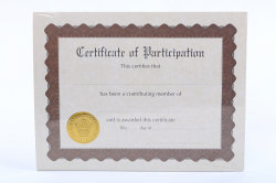 Certificat de conception Boarder avec gaufrage Fleuret