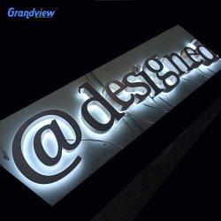 Logo 3D Metal Back Channel LED retroilluminato RGB modificabile Lettere di firma