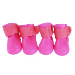 Proveedor de Pet de caucho de silicona resistente al agua los zapatos botas de lluvia