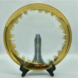 Claro Transparente de lujo con placas de cargador de la placa de oro para restaurante o Hotel