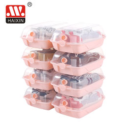 Nieuw ontwerp Transparent opbergdoos stapelbare plastic opbergdoos voor schoenen AJ Basketbalschoenen collectie doos