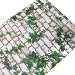 Adhesivos pared para la decoración del hogar de ladrillo de película de PVC Papel tapiz de papel de la pared personalizados