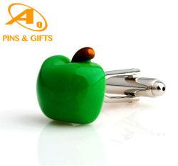 L'émail doux argent plaqué or métal chemise Cufflink avec boîte cadeau Mode bijoux