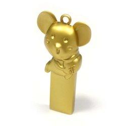 Goldenes Mäusemodell kann kundenspezifisches grelles Drive/SD Card/USB sein Feder-Laufwerk USB-