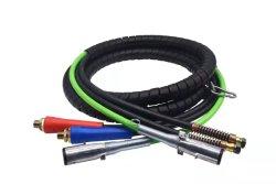Cavo elettrico rimorchio 3 in 1 A 7 vie con avvolgimento 3 IN 1 DA 15 PIEDI ABS E tubo flessibile del freno