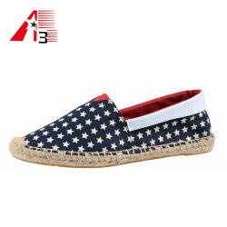 2020の新しい方法偶然の製靴工場の卸売のジュートの唯一の平らな偶然のズック靴