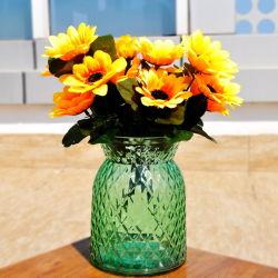 القزم الدهون الورد موجية الورد وزهرة زجاجية تزيين حفلات الزفاف