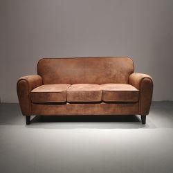 تصميم بيتيّة يعيش غرفة 3 [ستر] غلّة كرم جلد أريكة [بروون] لون أريكة