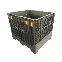 Almacén de Frutas de plegado de HDPE plegable apilable de plástico personalizada gran cuadro de palets de fabricante