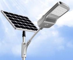 30W con protección IP65 Resistente al agua y resistente a la intemperie en dos la energía solar Calle luz LED para la zona fría