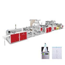 헤비 듀티 HDPE 플라스틱 옥수수 녹말 생분해성 드로스트링 로프 타이 가비지 휴지통 연속 압연 가방 메이킹 기계