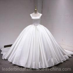 レトロのサテンの花嫁の夜会服のふくらんでいる顧客用実質のウェディングドレス2020 L17823