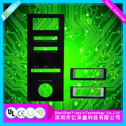 PC de Lexan de membrana/placas de plástico de Superposición de gráfico/ con el adhesivo adhesivo/Back