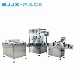 Perfume automático de la cosmética de Aceite Esencial de plástico líquido E llenado de botellas de vidrio tapado etiquetado maquinaria