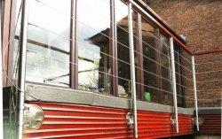 Лестница из нержавеющей стали поручни Balusters 043 балкон палубе крыльцо терраса стекла Guardrail на поручне