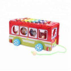 Деревянные блоки погрузчика игрушек, деревянный блок автомобилей, деревянный блок игры для детей