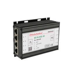 4개의 포트 RJ45 공용영역 500MHz 1000mbit/S 1gbits 48V Poe 시스템 통신망 신호 원거리 통신 이더네트 큰 파도 번개 보호 장치